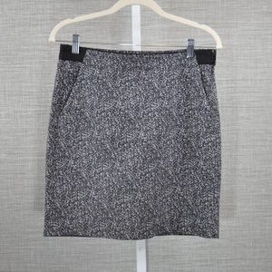 Theory Purple and Grey Watercolor Skirt - 2